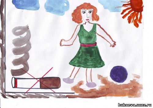 """""""Мы за здоровый образ жизни """".  Ребята нашего класса приняли участие в конкурсе рисунков."""